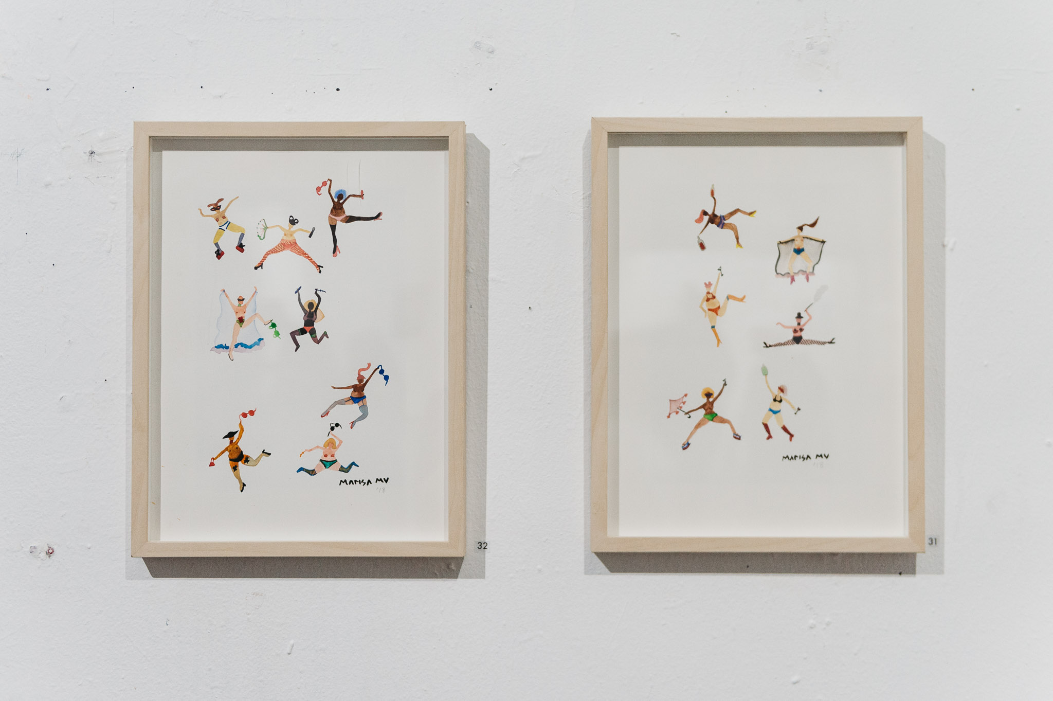Marisa Mu paintings with Simone Taylor photographs - Epitome of HER exhibition