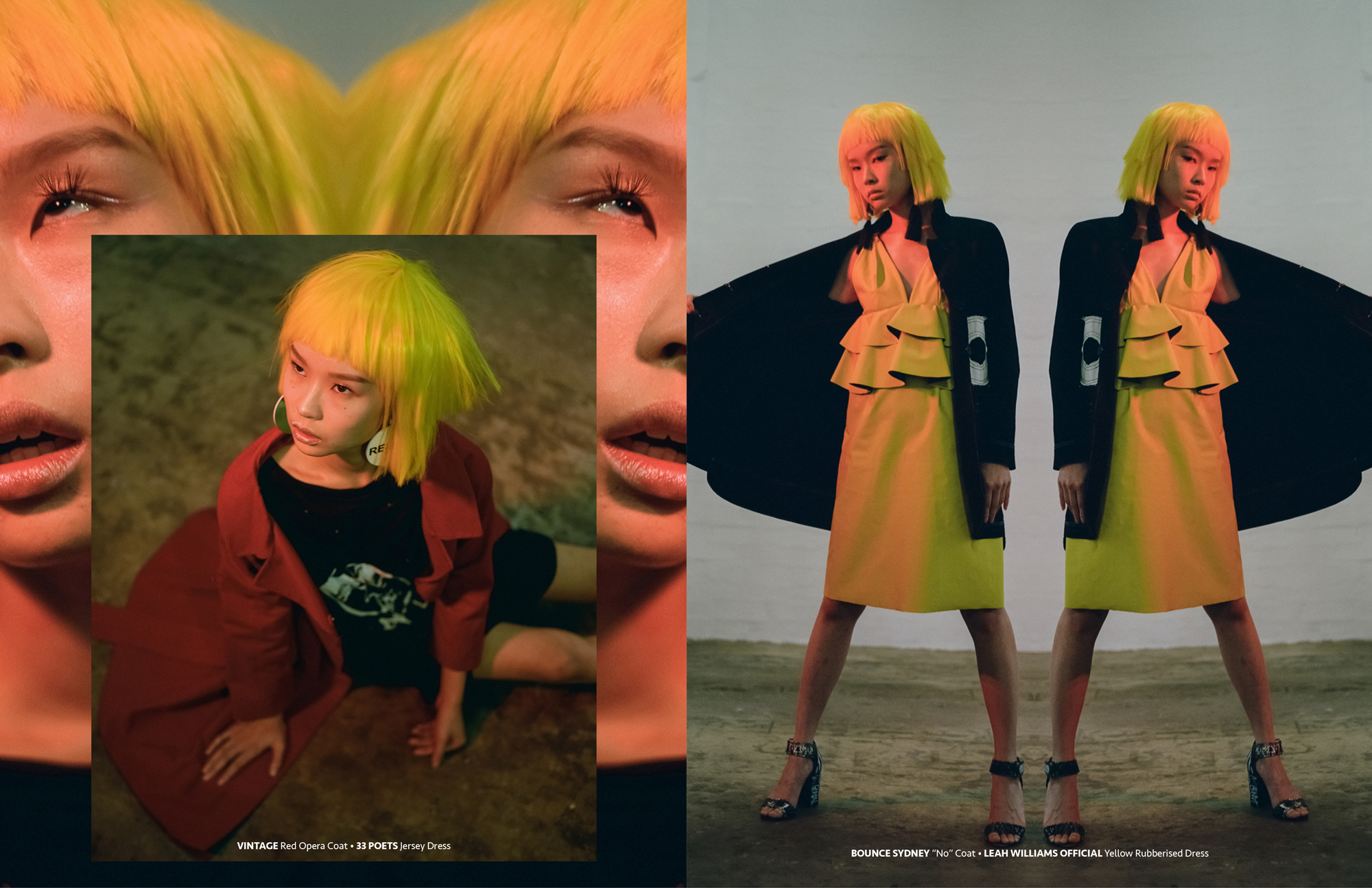 Cindy Wang in GRAPHIC CONTENT Asian grunge aesthetic fashion editorial