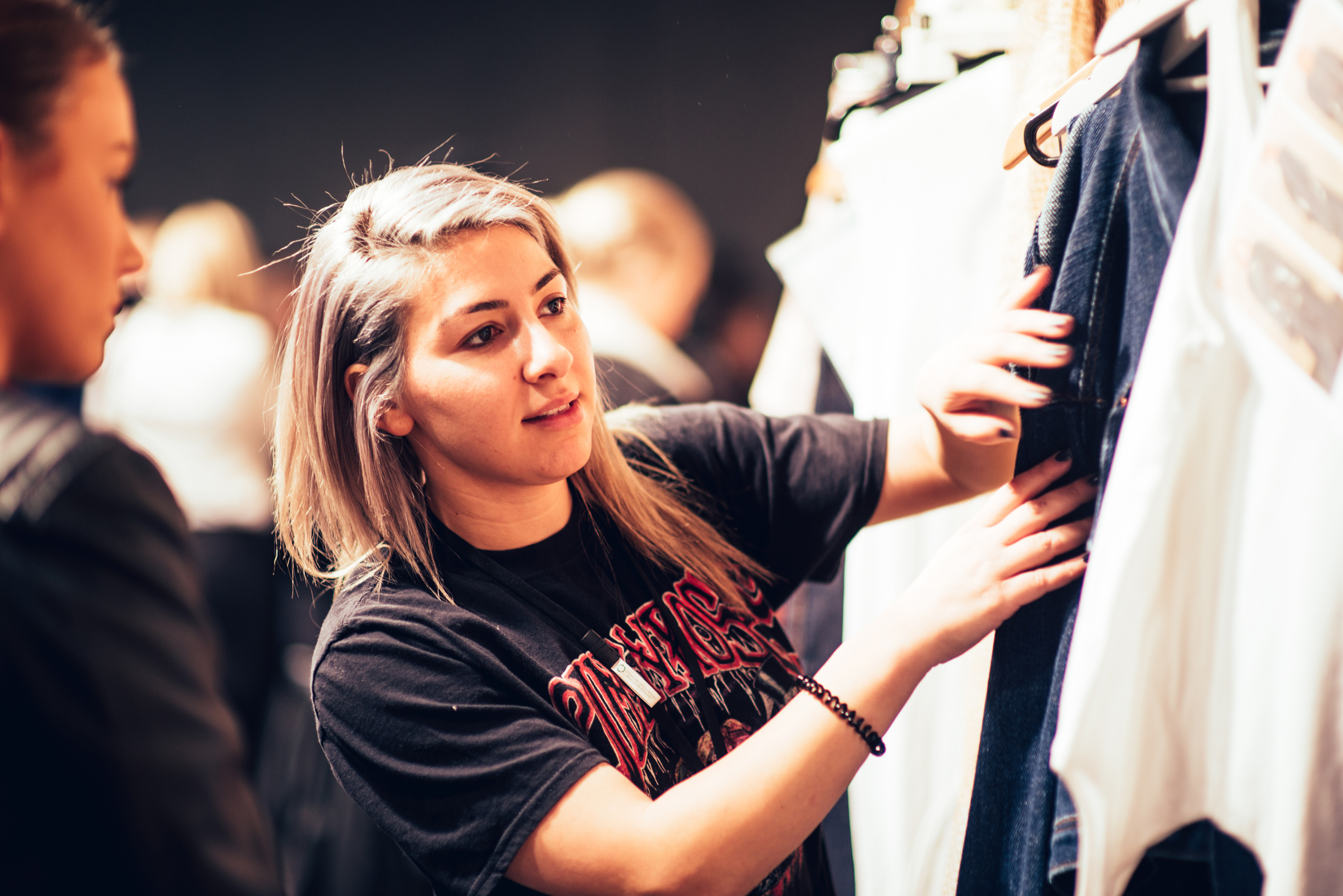Backstage with young Australian designer Alissar H at at Innovators show Sydney Fashion week 18