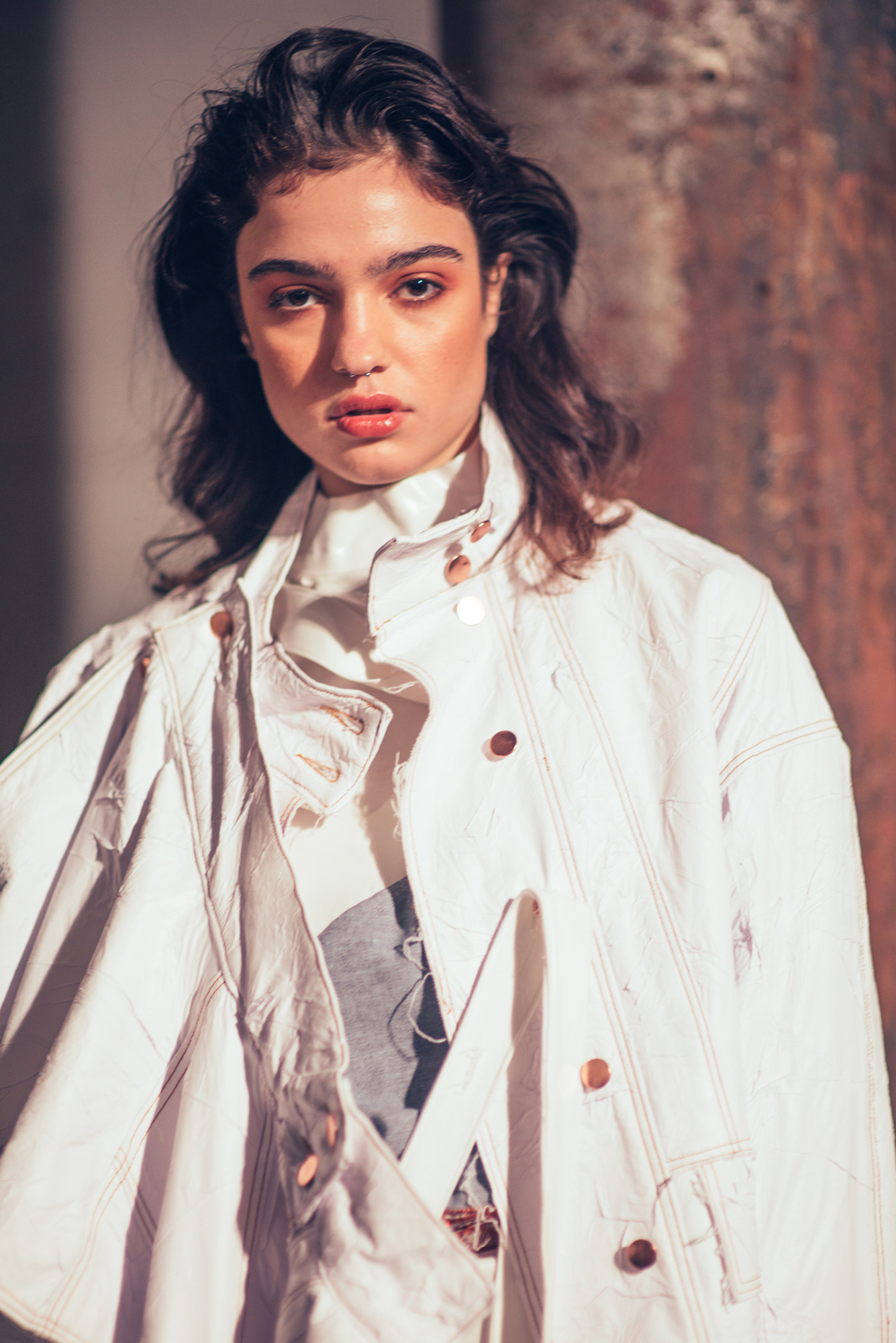 Ilana Davies backstage at Alissar H Resort 19 show with The Innovators MBFWA18