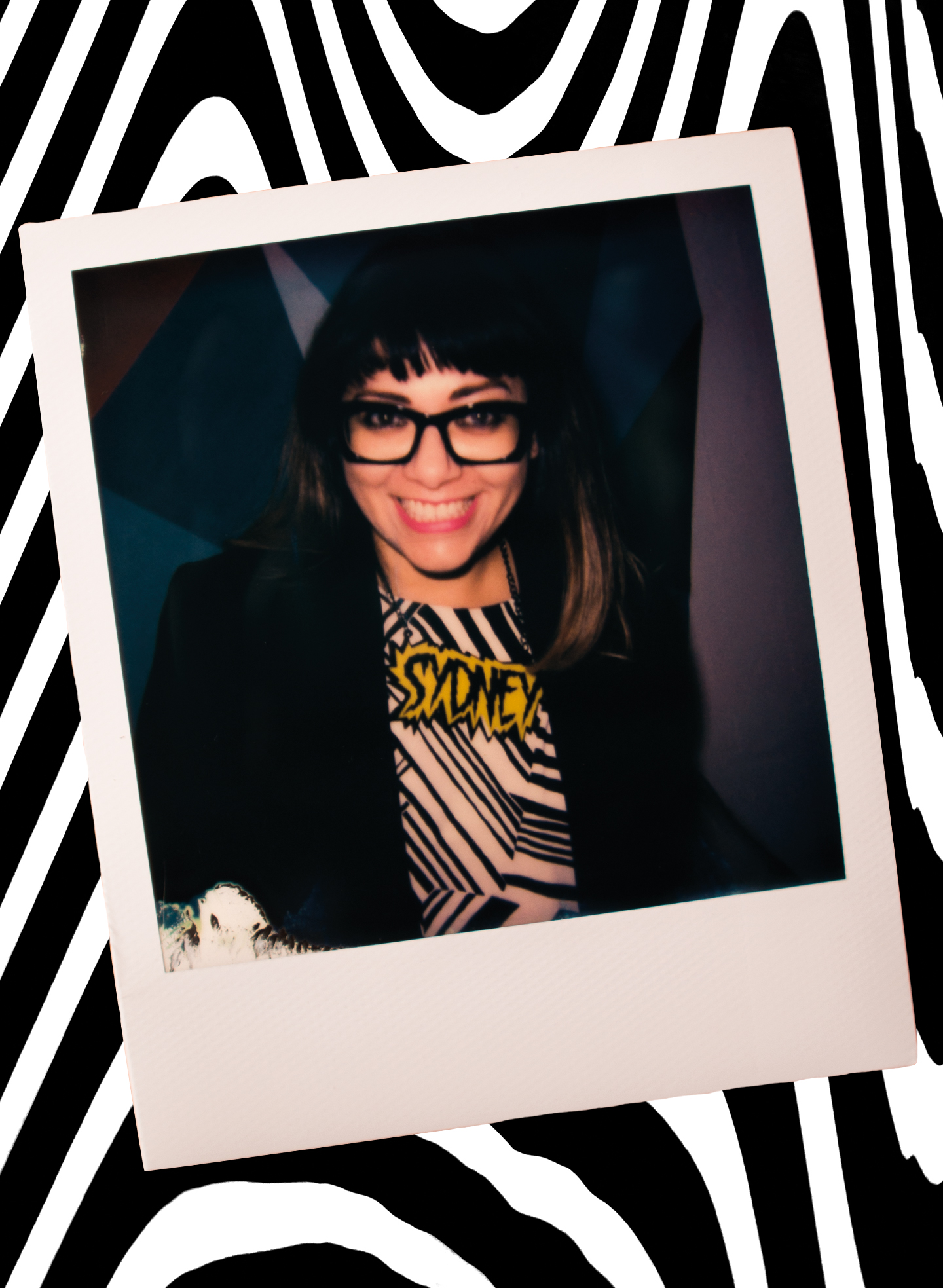 Jess Scully, City of Sydney Councillor & former Vivid Sydney Creative Director polaroid by Aaron VIII