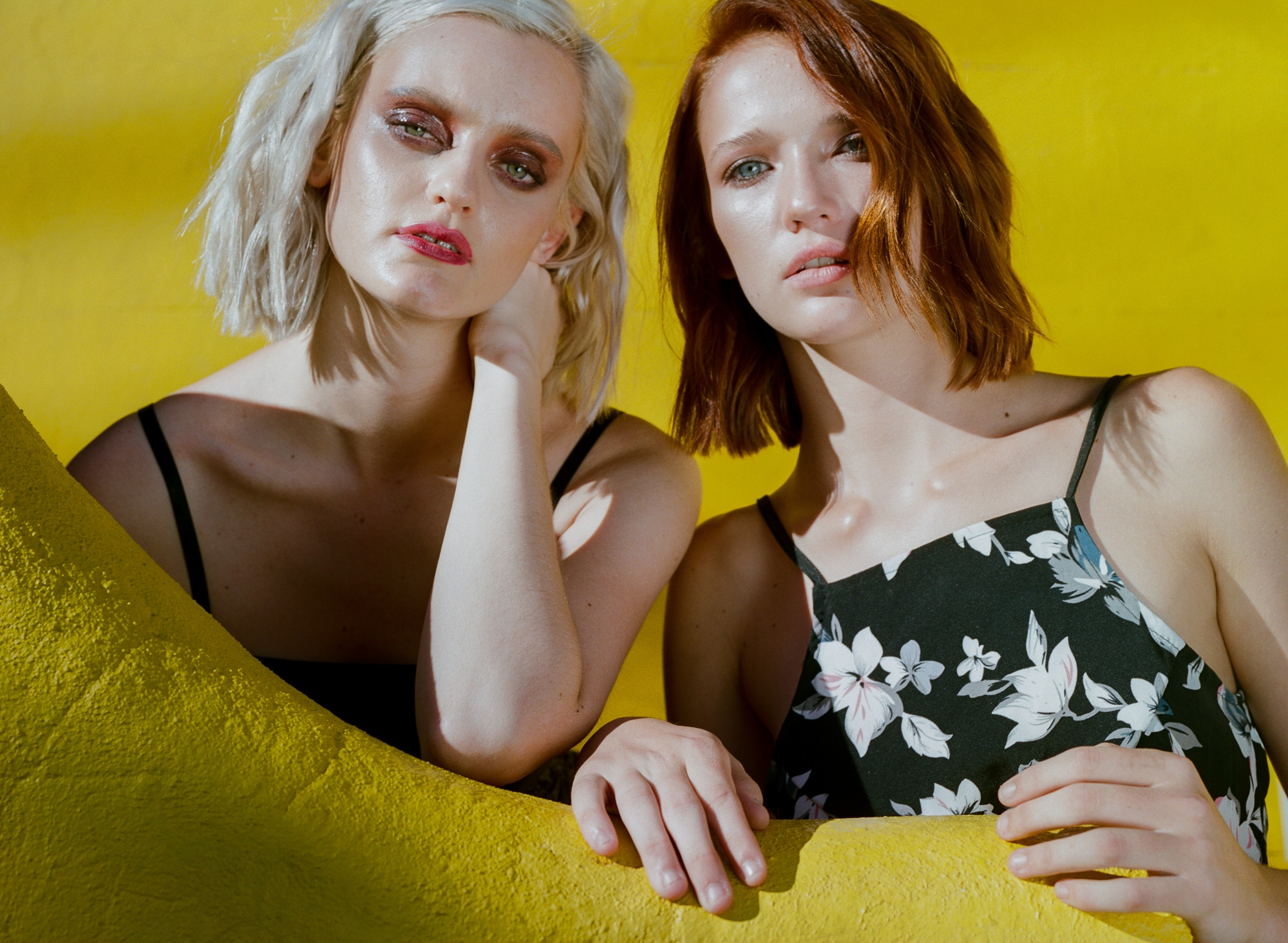 Model test with Abbie Wood and Sydney Barber on the streets of Surry Hills