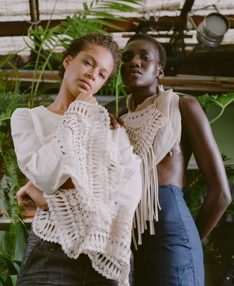 Nya Leth and Anissa Von Busse in THE GREENHOUSE slow sustainable fashion editorial by Aaron VIII