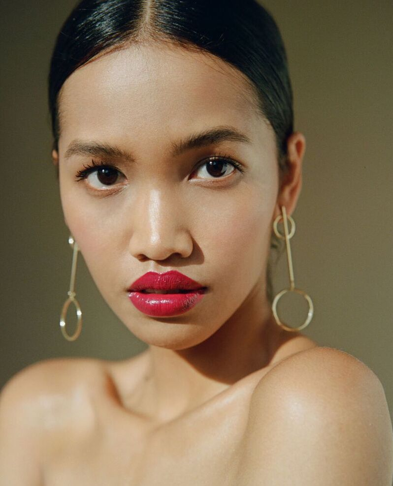 Khai Adityani natural unretouched beauty editorial shot on medium format film by Aaron VIII