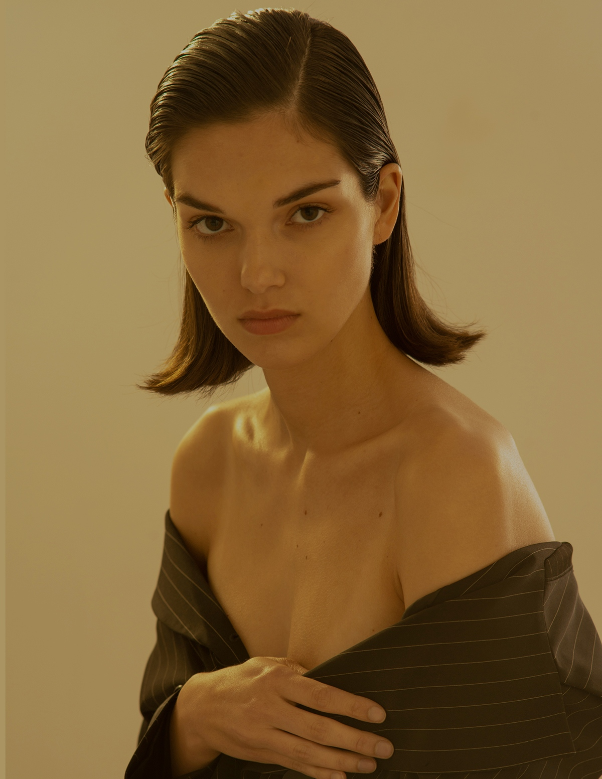 IMG model Julia Fort in FOOL'S GOLD shot by Aaron VIII for Astrophe beauty