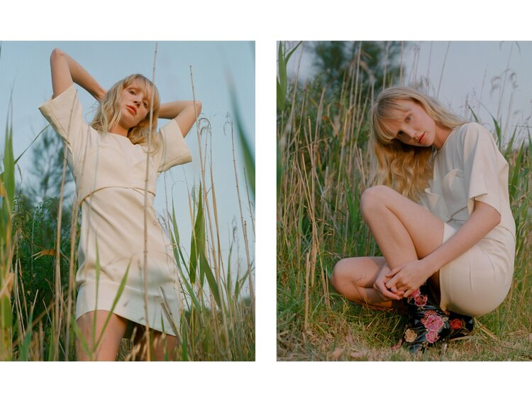 Zhon wears Iro Paris dress and Casea boots. Shot on film by Aaron VIII